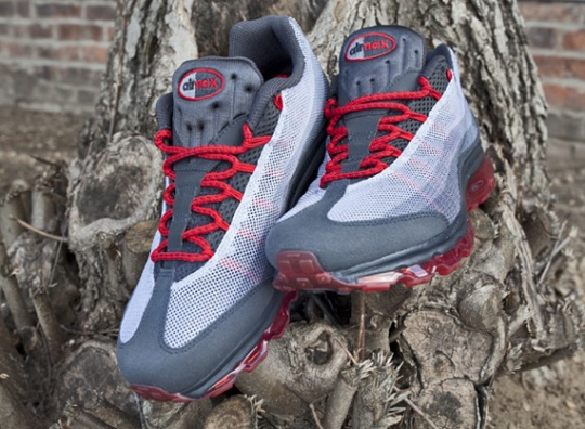 Nike Air Max 95 Dynamic Flywire – Anthracite – University Red