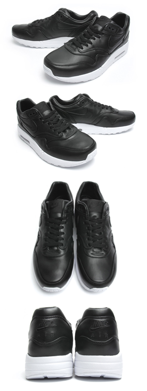 check out 499b9 c012c 85%OFF Nike Air Maxim 1 SP quotBlack Leatherquot