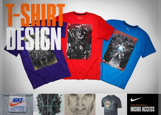 """Nike Basketball Inside Access: """"Superhuman"""" T-Shirt Designs"""