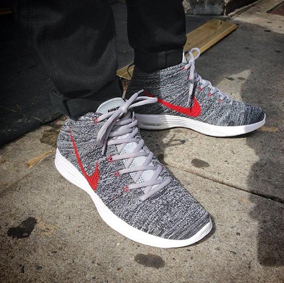 Nike Flyknit Chukka - Grey - Red - SneakerNews.com 3cd9e6e53