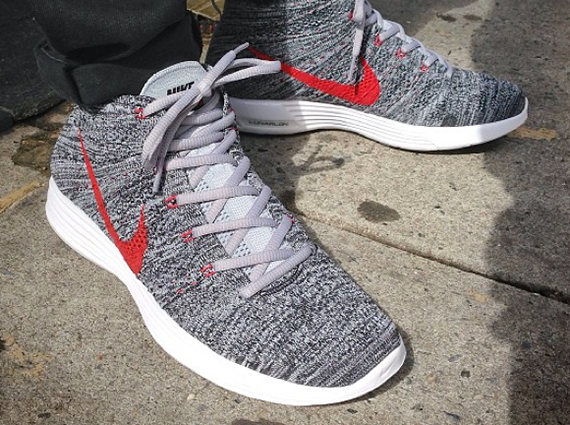new concept c68bf 4d48e Hey Flyknit fans this new GreyRed colorway of the Chukka is surely to be  the apple of your eye. The Chukka silhouette alone has been slim pickings  in 2013 ...