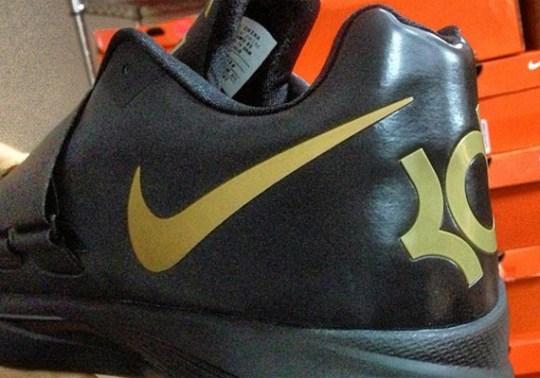 "Nike Zoom KD IV ""Black/Gold"" PE"