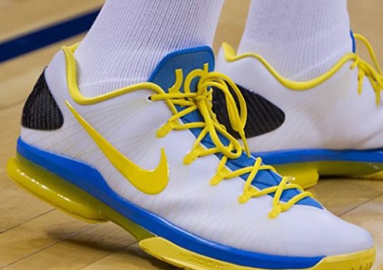new style e3070 a2bc5 Nike KD V Elite PE – White – Blue – Yellow