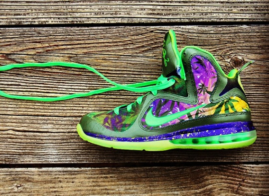 "Nike LeBron 9 ""420"" Customs by GourmetKickz"