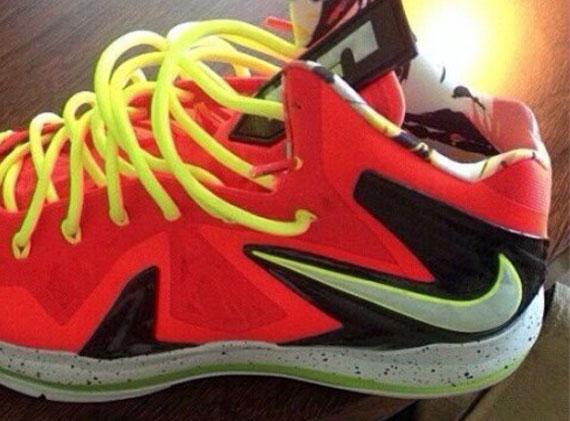 Nike LeBron X Elite - Infrared - Volt