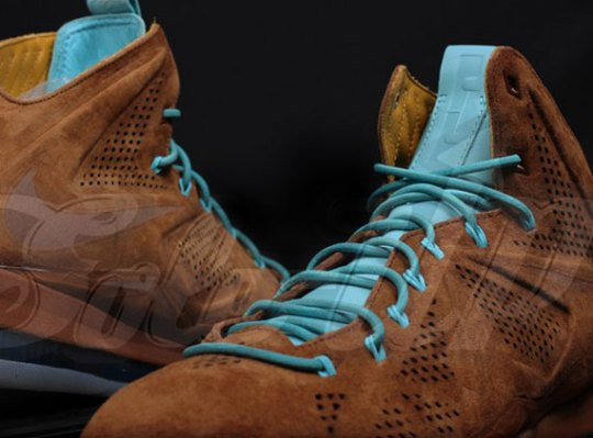 "Nike LeBron X EXT ""Brown Suede"""