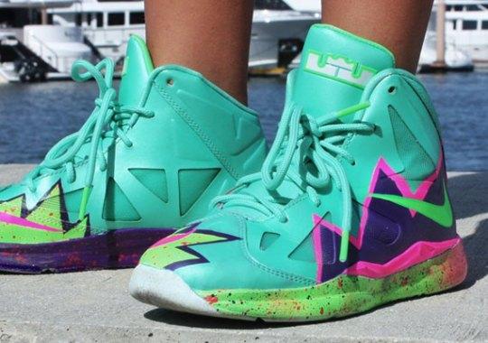 """Nike LeBron X GS """"Pow"""" Customs by Twizz"""