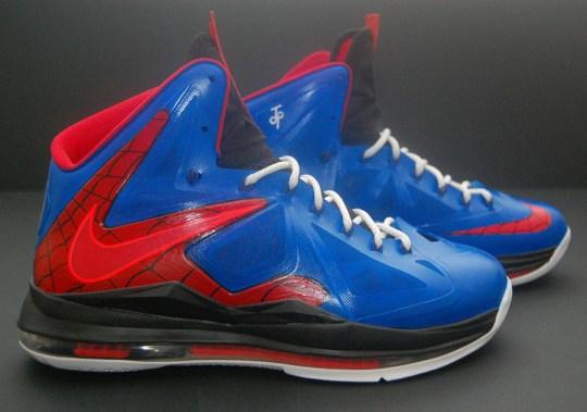 "Nike LeBron X ""Spiderman"" by JP Custom Kicks"