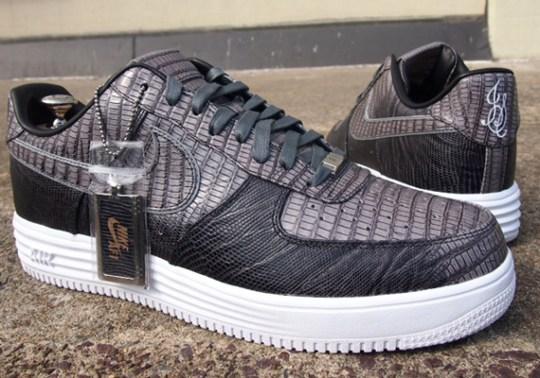 """Nike Lunar Force 1 """"Lizard Skin"""" Bespoke by Slovadon"""