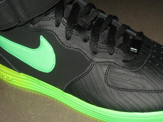 online retailer e544e a0f6f Nike Lunar Force 1 Mid quotGlowquot Black Poison Green Volt on sale