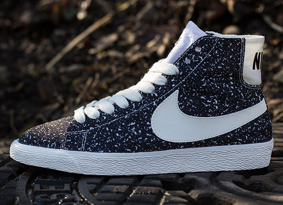 nike blazer mid black and white