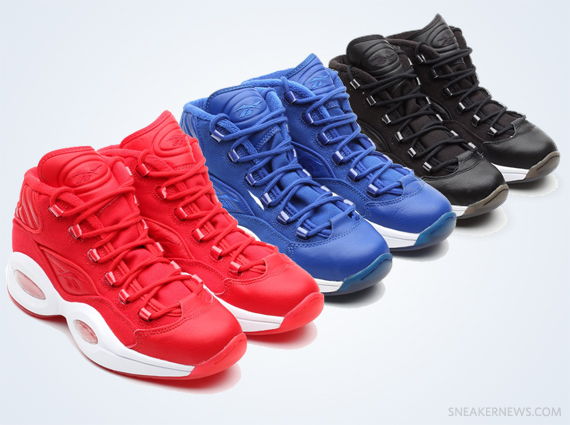 4b964be35f2831 A thorough preview of the Basketball category for Reebok Classics included  these three Leather Canvas samples of the Reebok Question Mid.