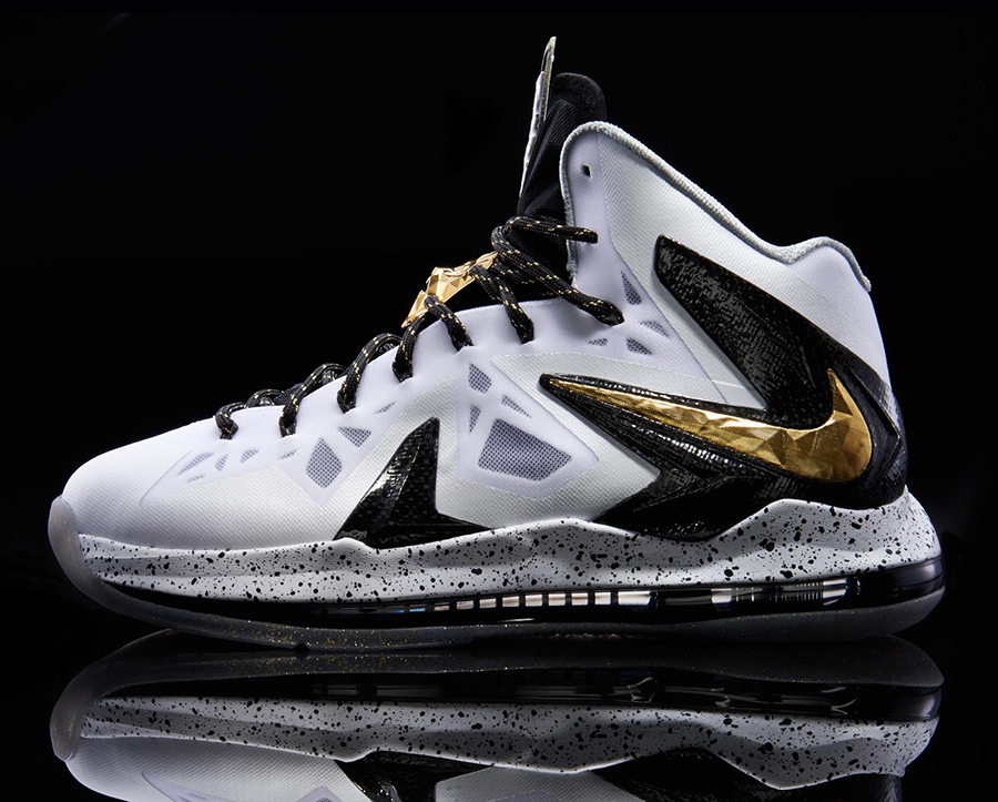 "Nike LeBron X P.S. Elite+ ""White/Gold"" - SneakerNews.com"