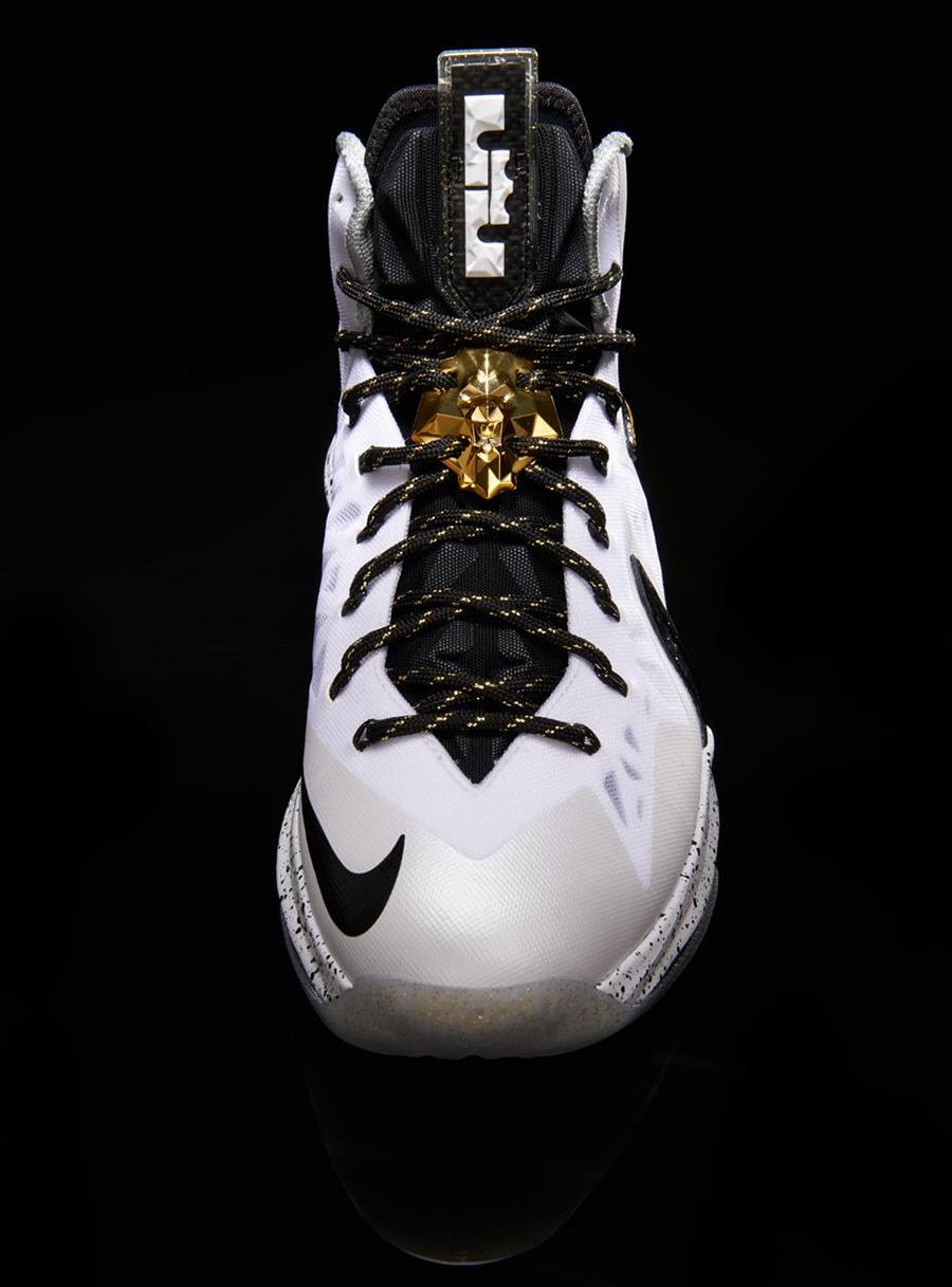 Nike LeBron 10 P.S Elite White Metallic Gold Black