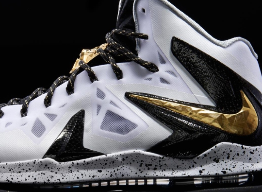 "Nike LeBron X P.S. Elite+ ""White/Gold"""