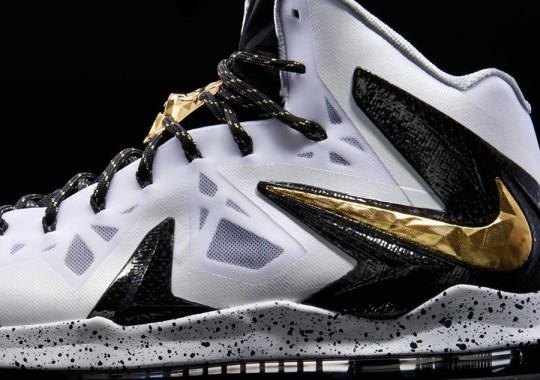 """Nike LeBron X P.S. Elite+ """"White/Gold"""""""