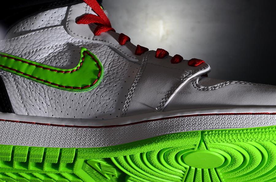 c3bdb57c5e4c Air Jordan 1 Retro  93. White Electric Green-Black-Neutral Grey-Gym Red  580514-150 06 01 13
