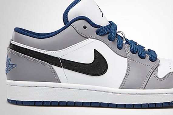 fdbee3b5fb60 Air Jordan 1 Low - White - True Blue - Cement Grey - Black ...