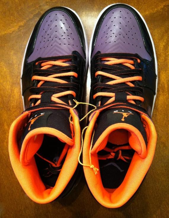 Air Jordan 1 Purple Black Orange Unreleased Sample