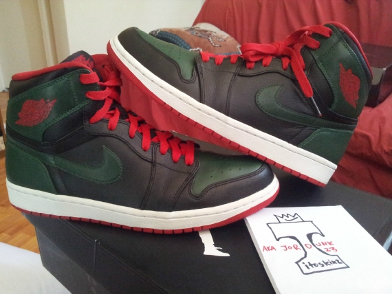 """c9f77c776ff Continue reading to see this alternate version of the Air Jordan 1 Retro """" Gucci"""" from a seller who has had some strong samples as of late"""