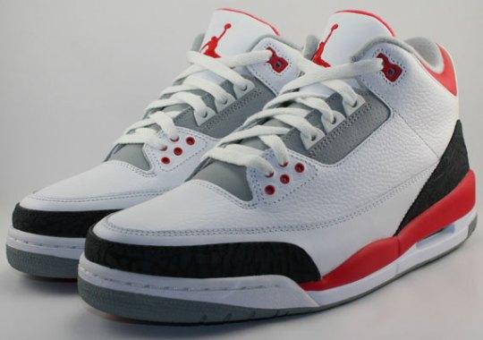 "Air Jordan III ""Fire Red"" – Release Date"
