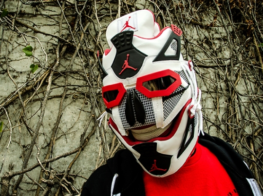 "Air Jordan IV ""Fire Red"" Mask by Freehand Profit"