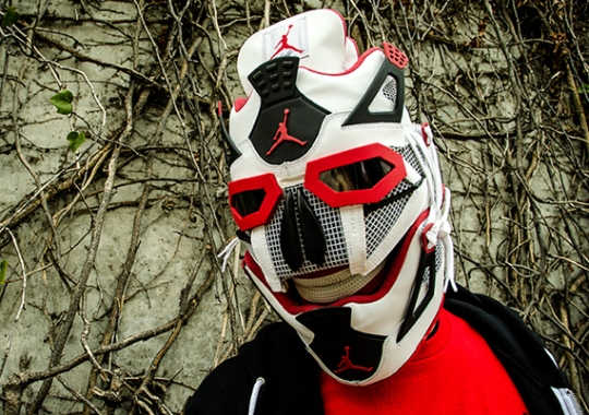 """Air Jordan IV """"Fire Red"""" Mask by Freehand Profit"""