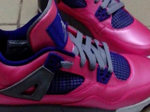 new product e6e6c 677bb Air Jordan IV GS – Pink – Purple – Navy