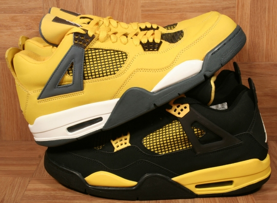 "Air Jordan IV Retro ""Thunder and Lightning"" Pack on eBay"