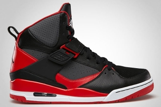 best website 540bf 33e65 Jordan Flight 45 High Black Fire Red-Dark Grey-White 384519-011 07 2013