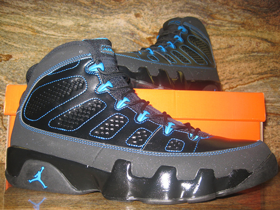 black and blue jordan 9
