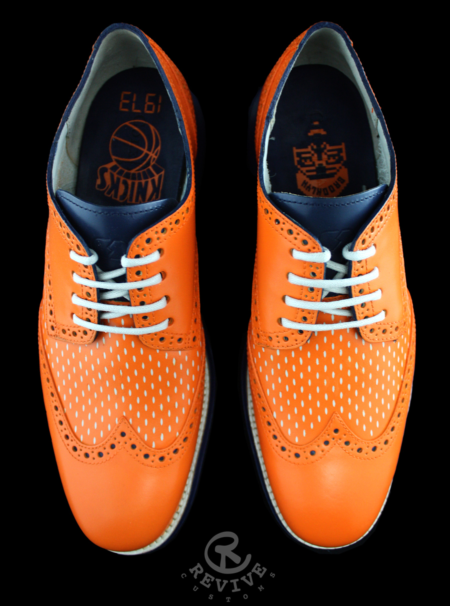 "Cole Haan Lunargrand ""Knicks Playoffs"" for Spike Lee by Revive Customs"