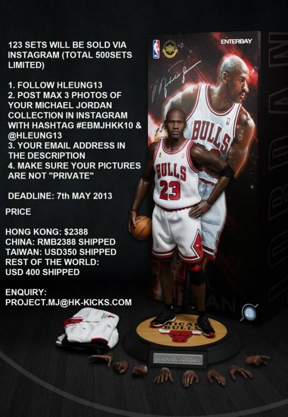 0cb9c6269cdb HK-Kicks x Enterbay Michael Jordan Figurine - SneakerNews.com