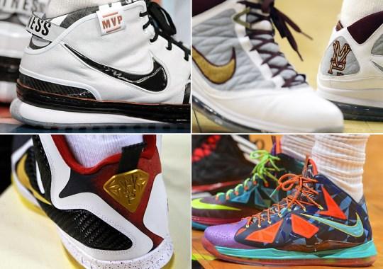 Four LeBron James MVP Awards, Four Nike MVP Sneakers