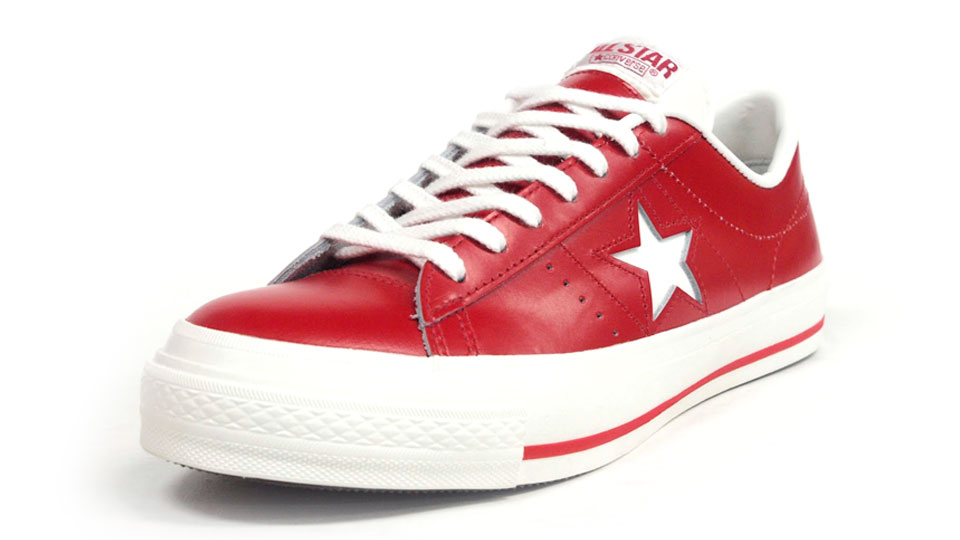 converse one star white red