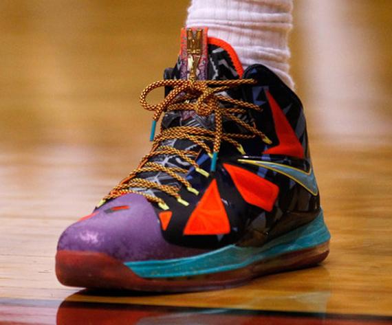 "Nike LeBron X ""What The MVP?"" - SneakerNews.com Lebron 10 What The Mvp"