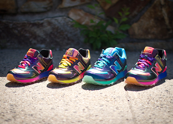 rainbow new balance kids 574