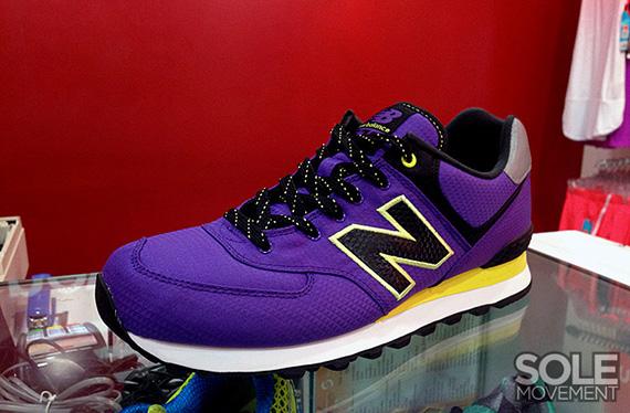 new balance 574 purple and yellow