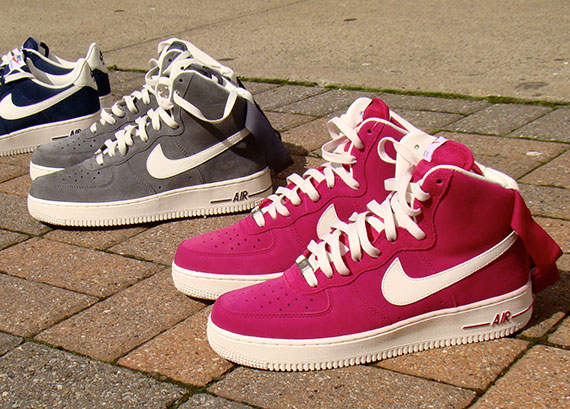 Nike Air Force 1 Faible Blanc / Noir / Blanc / Sports Fuchsia