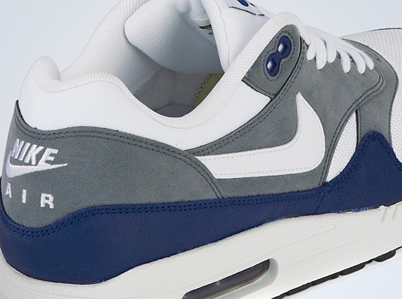 Nike Air Max 1 Essential - Deep Royal Blue - Grey - White ... 94a22ee15a36