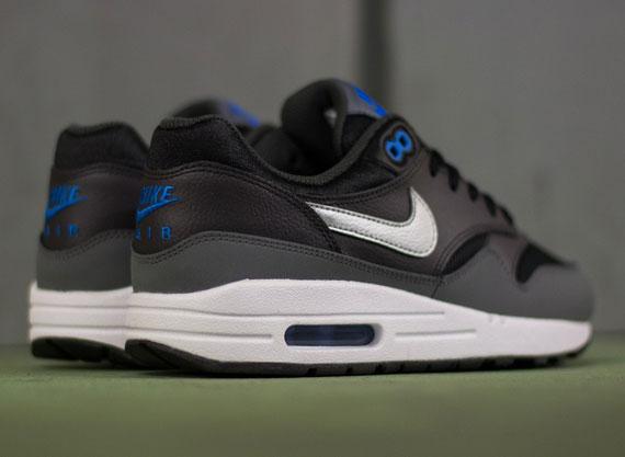Nike Air Max 1 GS - Black - Metallic Silver - Photo Blue ... 010dc2e5bd7c