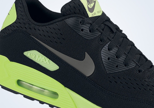Nike Air Max 90 EM – Black – Dark Grey – Flash Lime