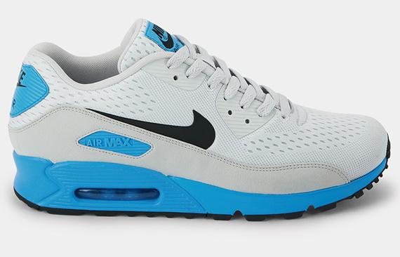 save off 3521d f4fb1 Nike Air Max 90 Premium Comfort EM Pure Platinum Black-Blue Hero 599405-004  06 2013