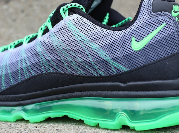 size 40 c8a05 702d5 Nike Air Max 95 Dynamic Flywire – Black – Poison Green