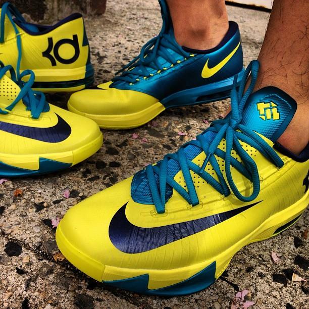 Nike KD VI - Yellow - Blue