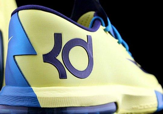 Nike KD VI – Yellow – Navy – Teal