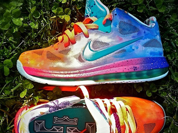 "quality design b28ec 139cf Nike LeBron 9 Low ""Horizon"" By District Customs"