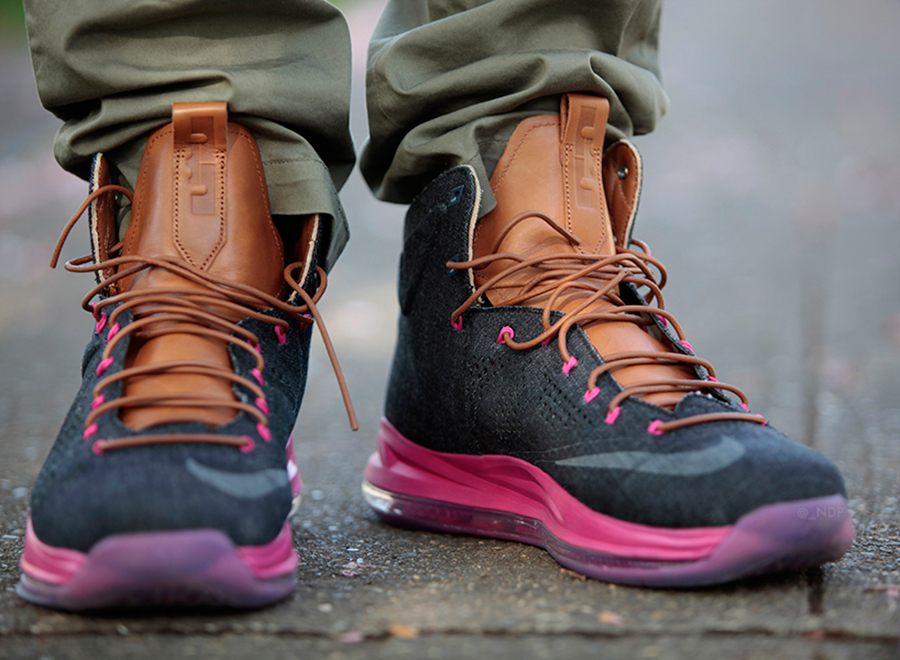 "promo code d8749 2d432 Nike LeBron X EXT ""Denim"" – On-Feet Images. May 1 ..."