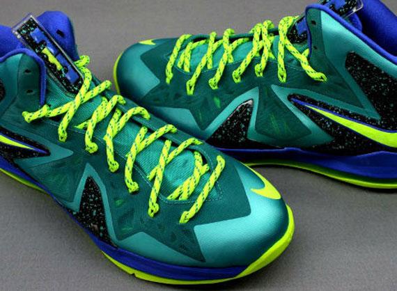 """Nike LeBron X Elite """"Sport Turquoise"""" - SneakerNews.com  Lebron 10 Elite Turquoise"""