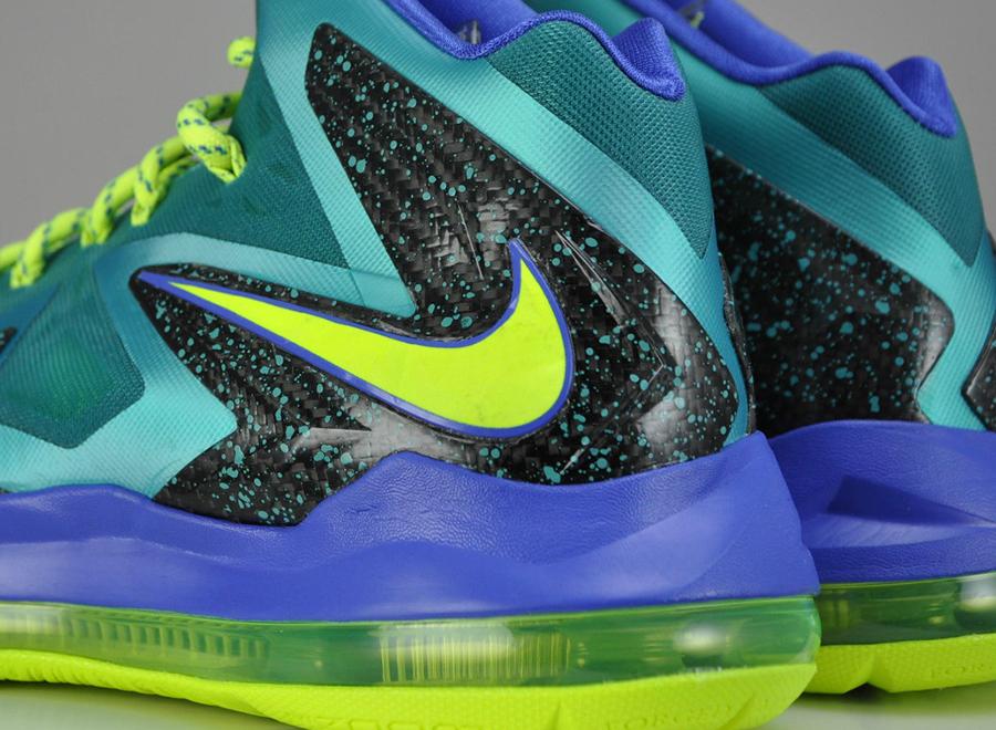 Nike LeBron X Elite - Sport Turquoise - Volt - Violet ...  Lebron 10 Elite Turquoise